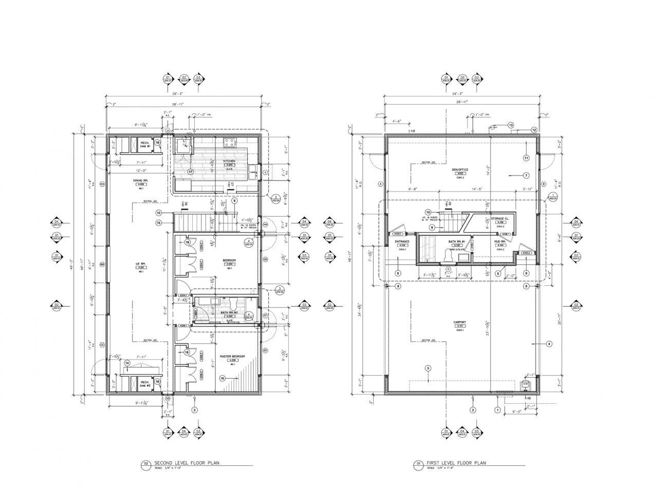 Plan drawings