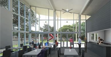 Café at the Menil
